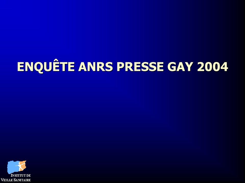 ENQUÊTE ANRS PRESSE GAY 2004