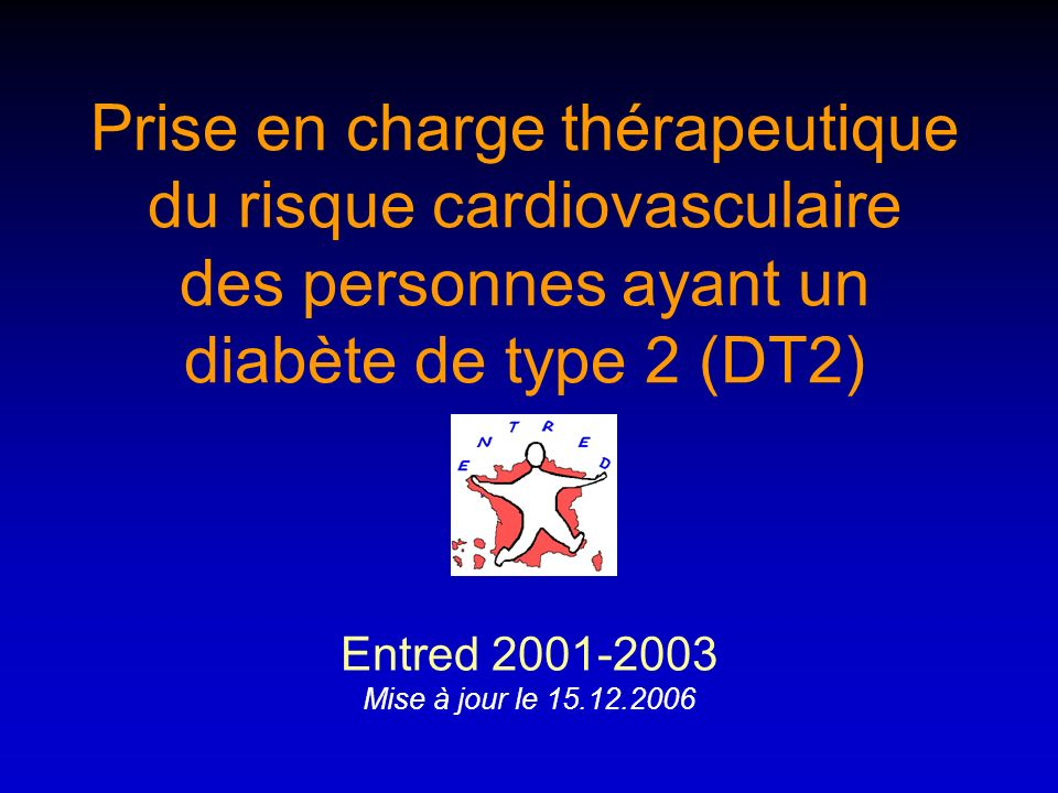 Prise en charge thérapeutique du risque cardiovasculaire des personnes ayant un diabète de type 2 (DT2)