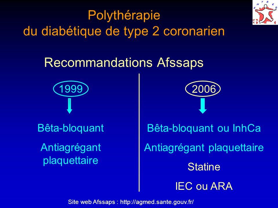Polythérapie du diabétique de type 2 coronarien Recommandations Afssaps