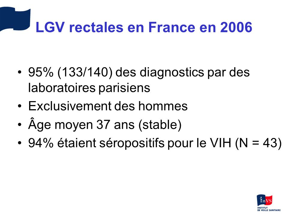 LGV rectales en France en 2006