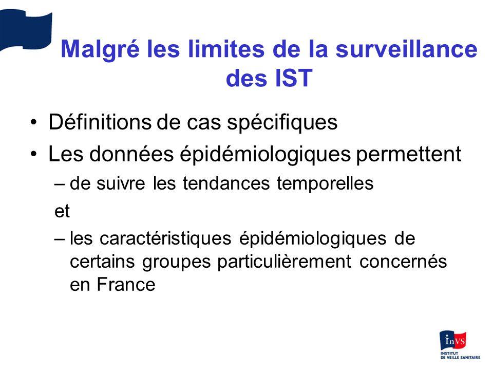 Malgré les limites de la surveillance des IST