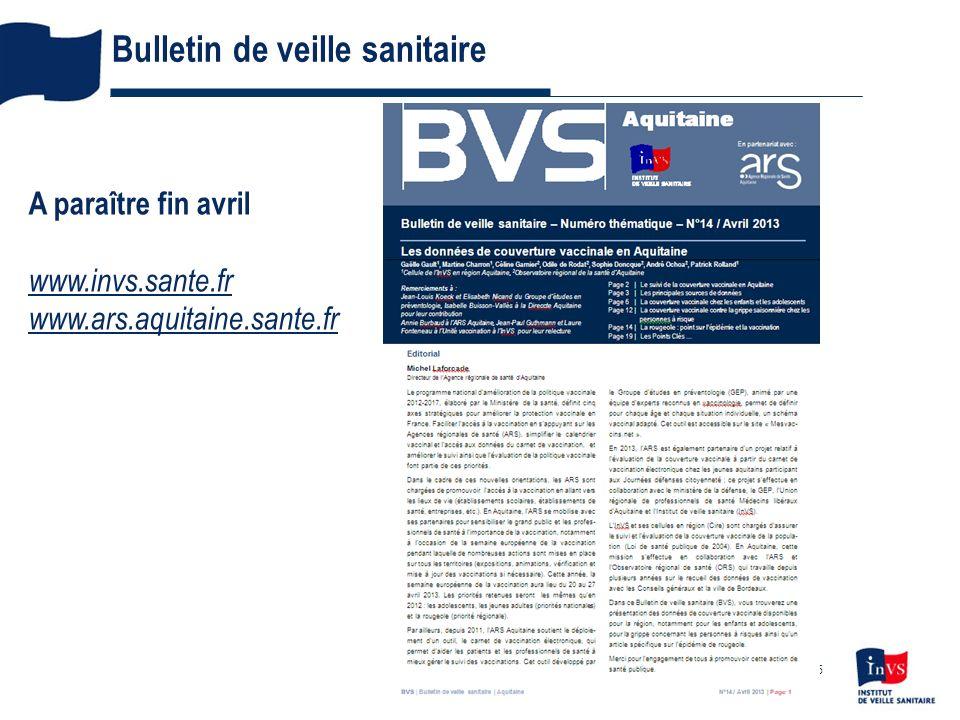 Bulletin de veille sanitaire