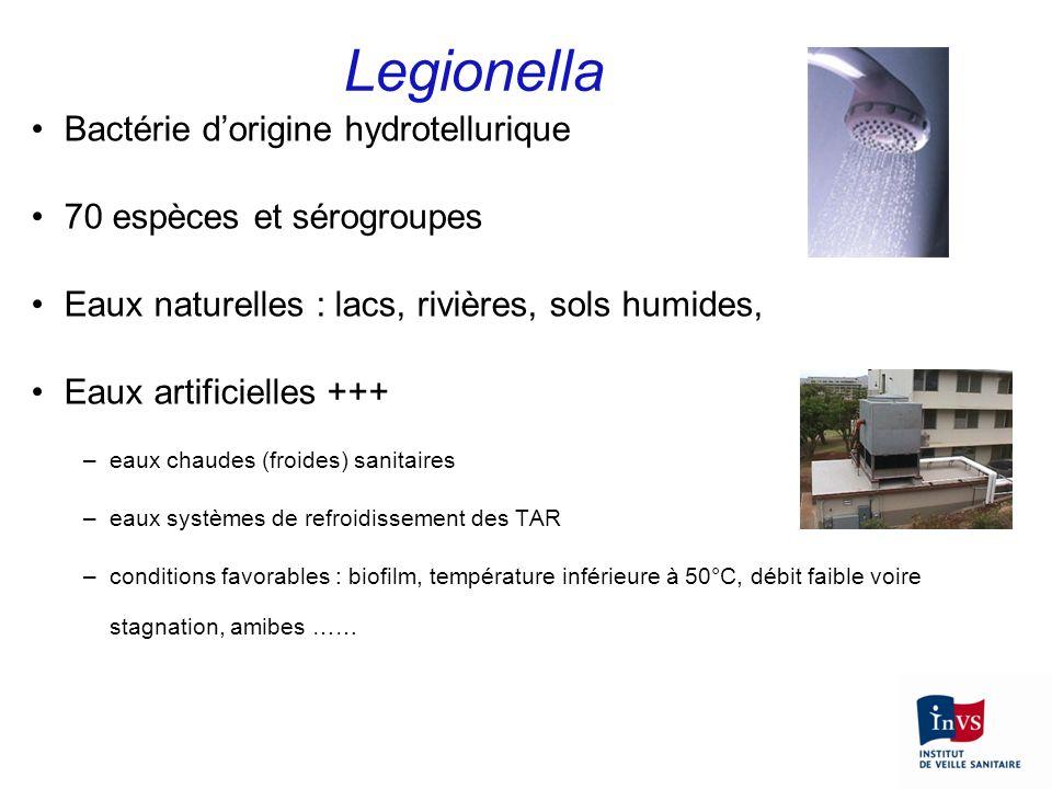 Legionella Bactérie d'origine hydrotellurique