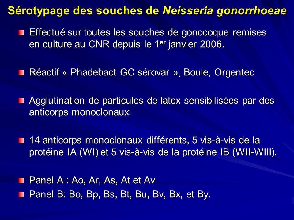 Sérotypage des souches de Neisseria gonorrhoeae