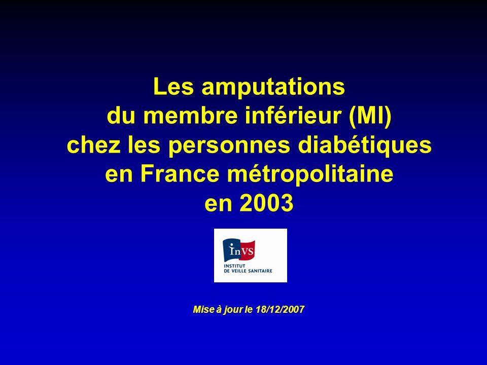 Les amputations du membre inférieur (MI) chez les personnes diabétiques en France métropolitaine en 2003