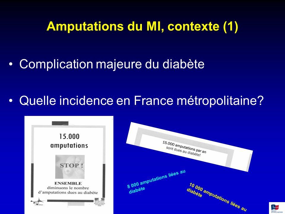 Amputations du MI, contexte (1)