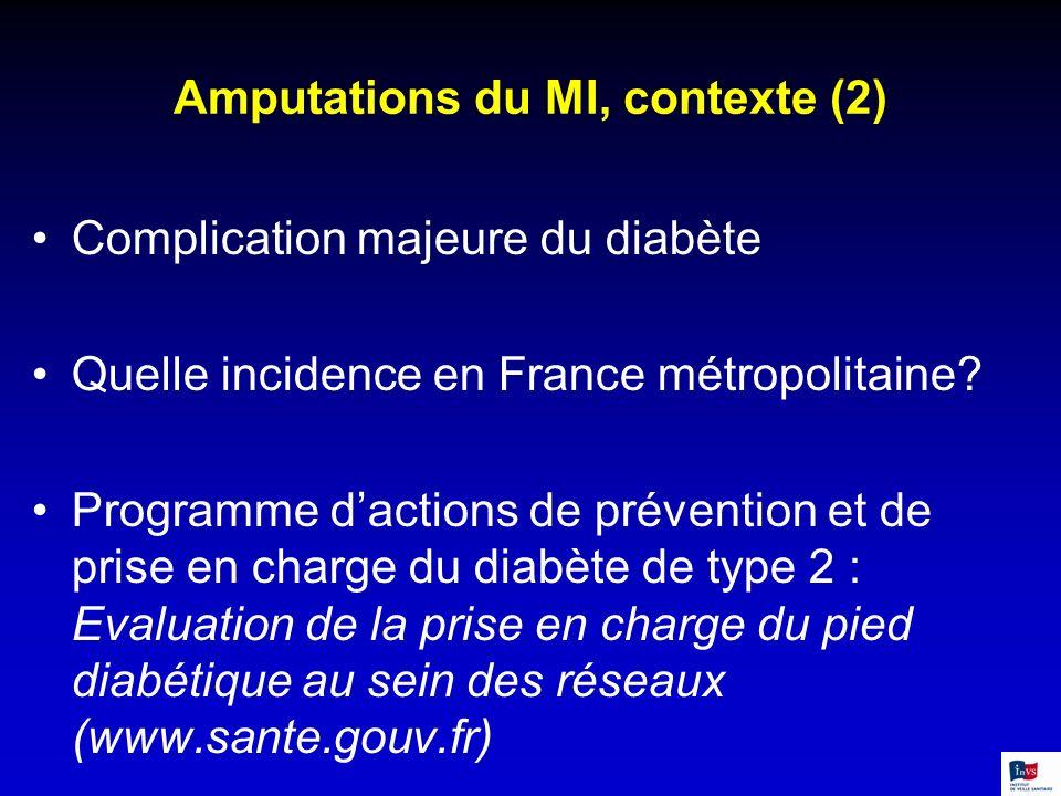 Amputations du MI, contexte (2)