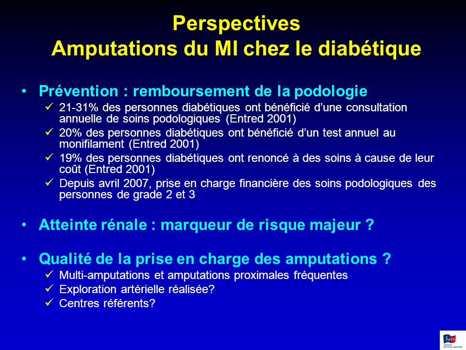 Perspectives Amputations du MI chez le diabétique