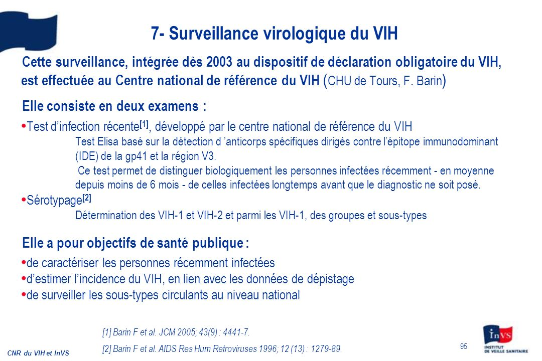 7- Surveillance virologique du VIH