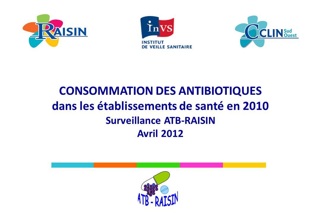ATB - RAISIN CONSOMMATION DES ANTIBIOTIQUES
