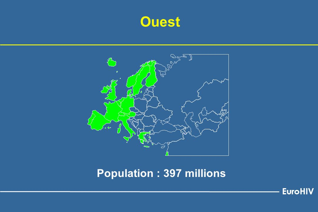 Ouest Population : 397 millions EuroHIV