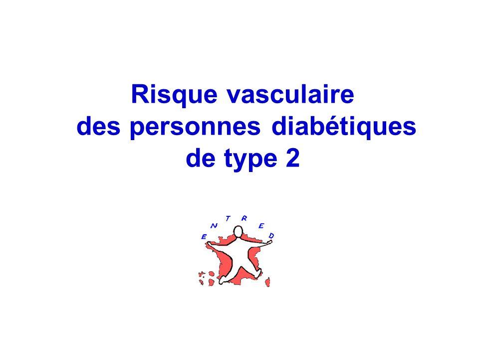 Risque vasculaire des personnes diabétiques de type 2