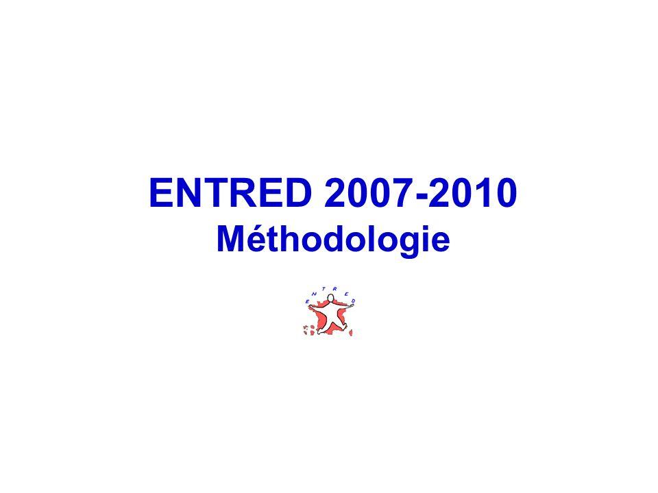 ENTRED 2007-2010 Méthodologie