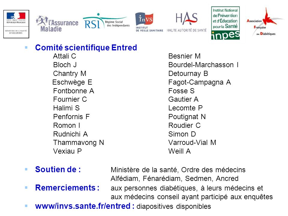 Comité scientifique Entred
