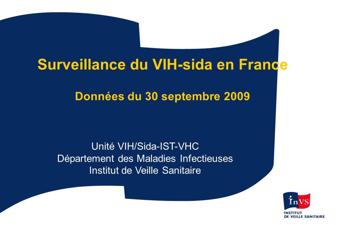 Surveillance du VIH-sida en France Données du 30 septembre 2009