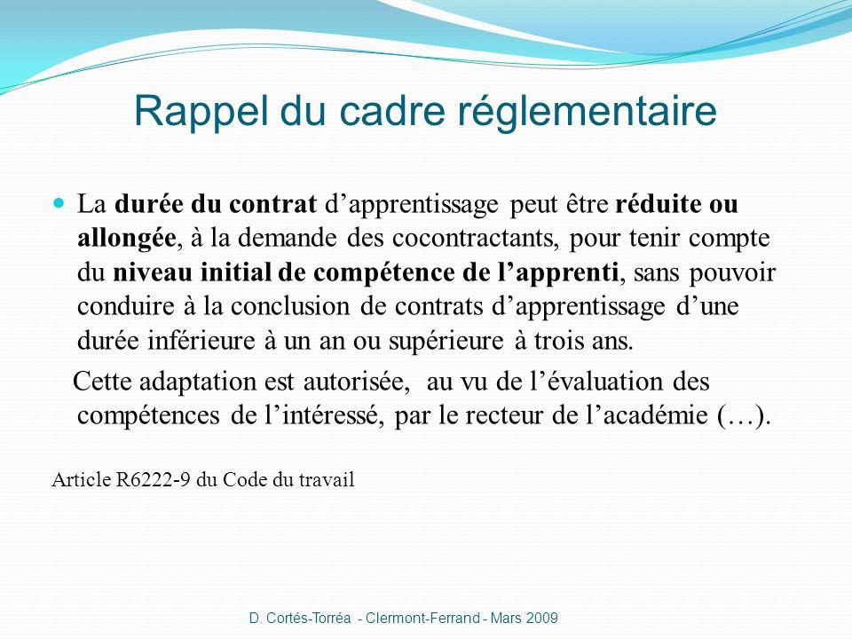 Rappel du cadre réglementaire