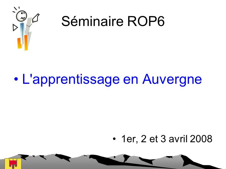 L apprentissage en Auvergne