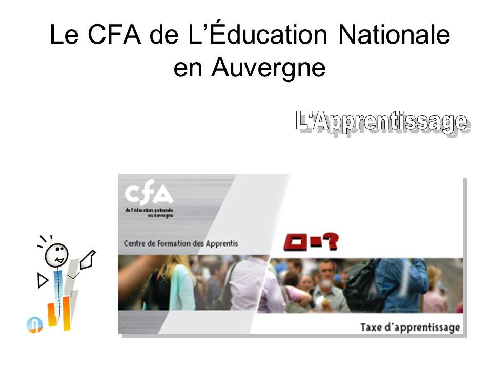 Le CFA de L'Éducation Nationale en Auvergne