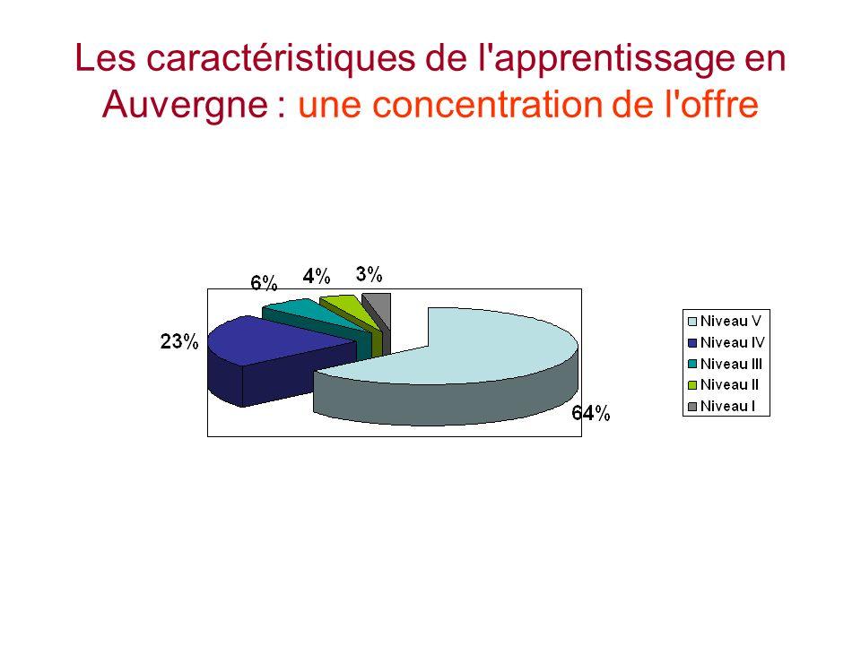 Les caractéristiques de l apprentissage en Auvergne : une concentration de l offre