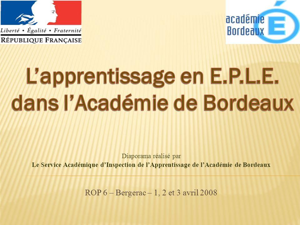 ROP 6 – Bergerac – 1, 2 et 3 avril 2008