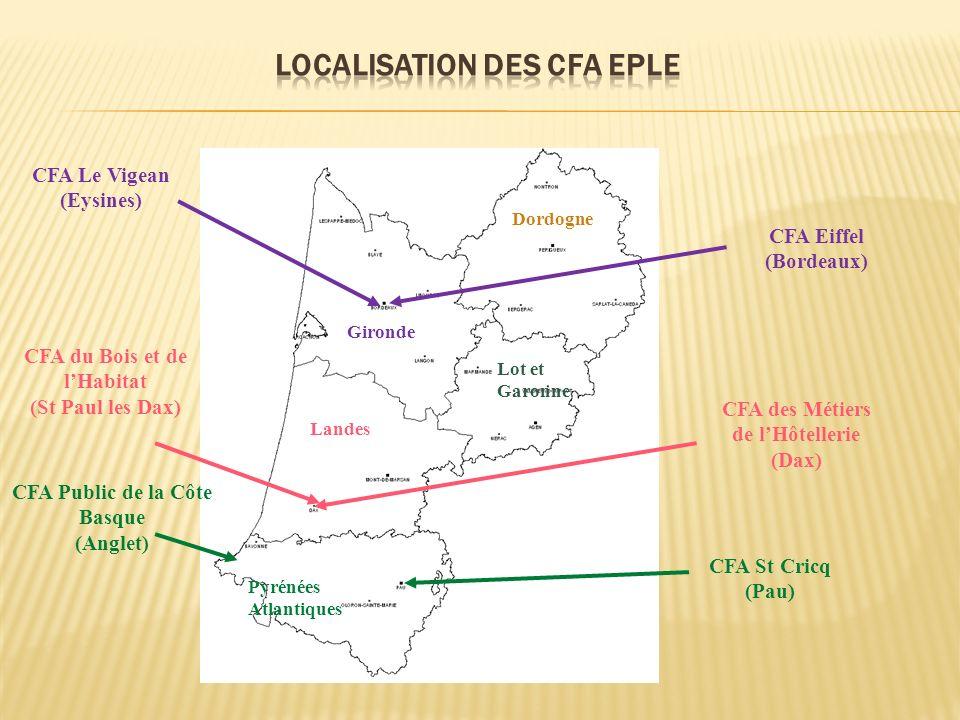 Localisation des CFA EPLE