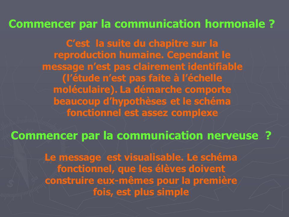 Commencer par la communication hormonale
