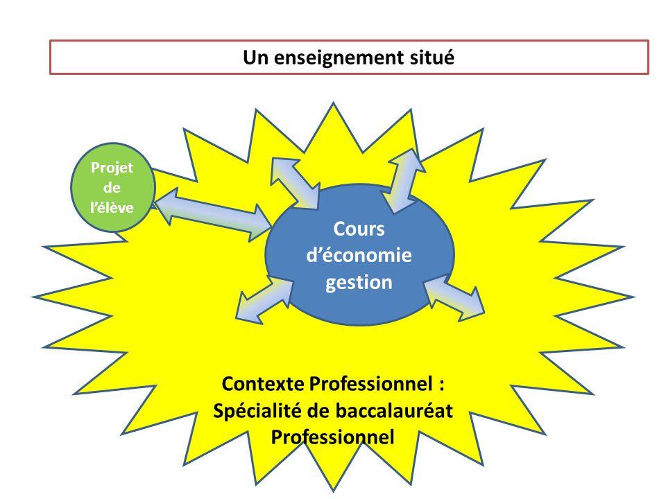 Contexte Professionnel : Spécialité de baccalauréat Professionnel