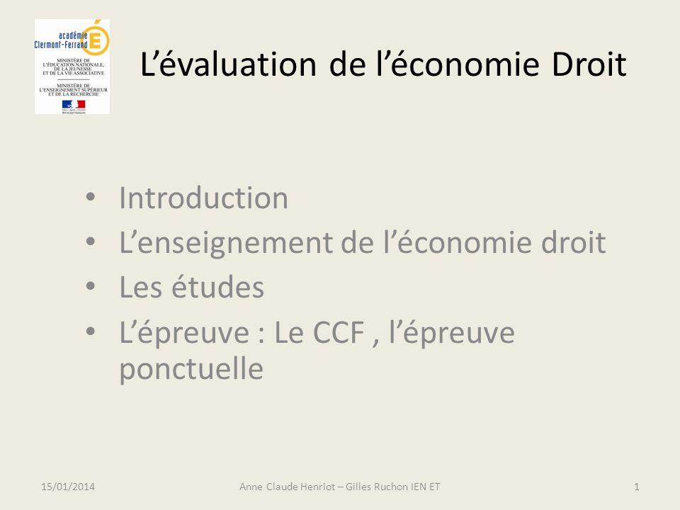 L'évaluation de l'économie Droit