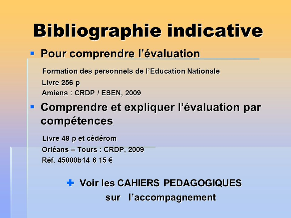 Bibliographie indicative