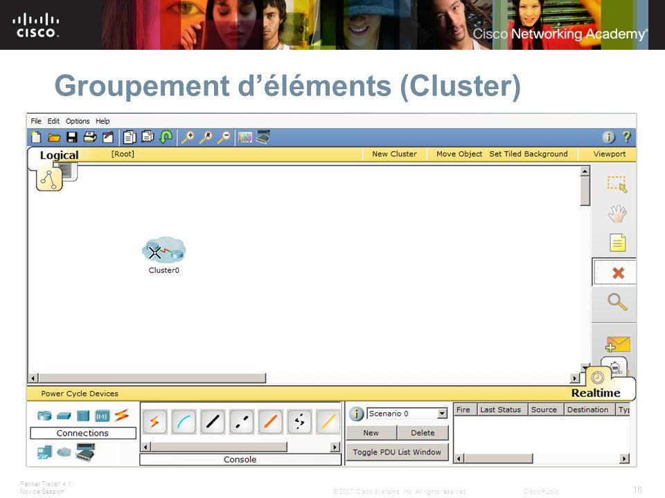 Groupement d'éléments (Cluster)