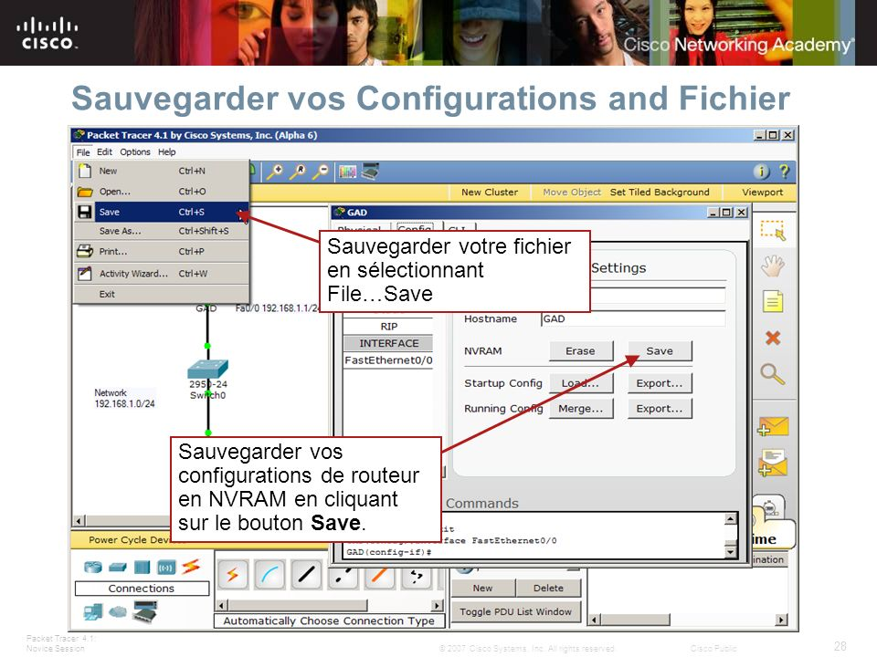 Sauvegarder vos Configurations and Fichier