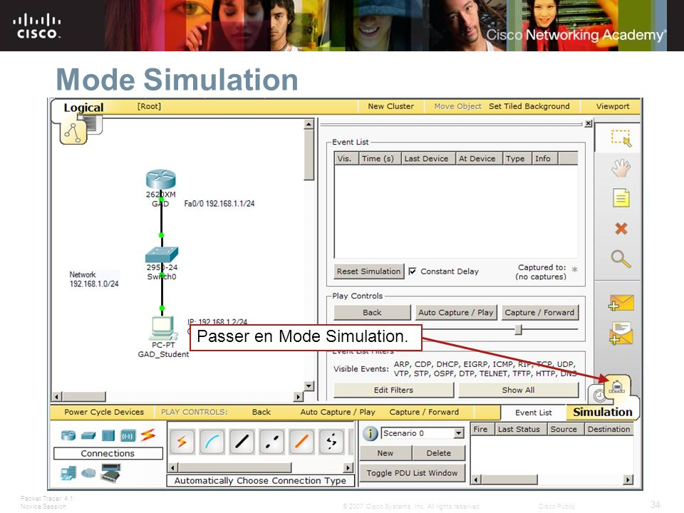Mode Simulation Passer en Mode Simulation. Slide 34 – Simulation Mode