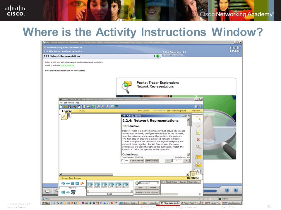 Where is the Activity Instructions Window