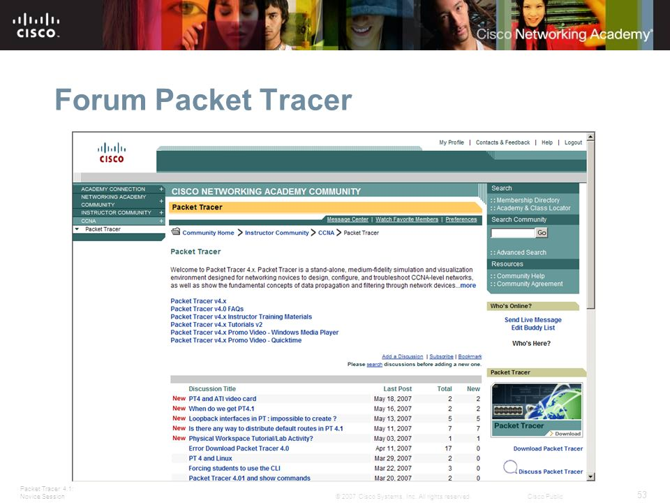 Forum Packet Tracer Slide 53 – Packet Tracer Forum