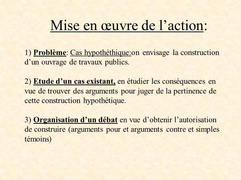 Mise en œuvre de l'action: