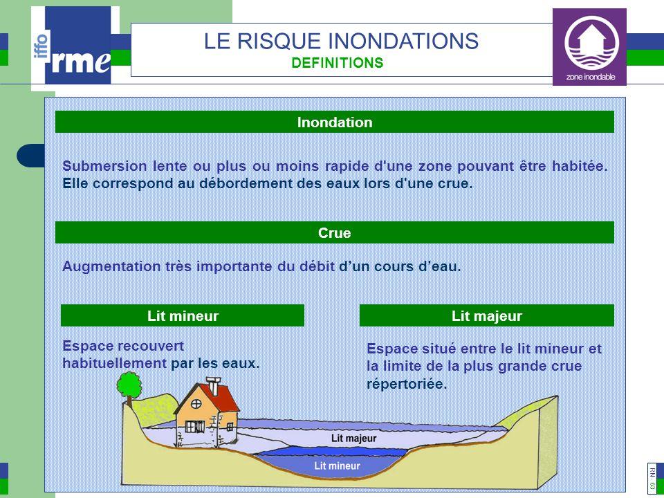 LE RISQUE INONDATIONS DEFINITIONS Inondation