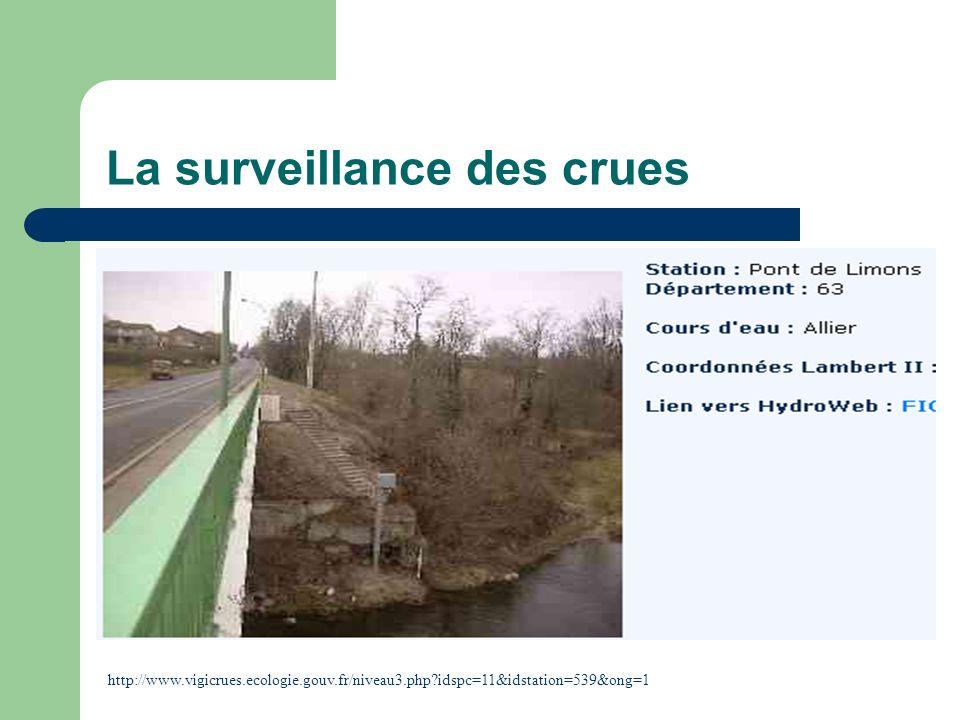 La surveillance des crues