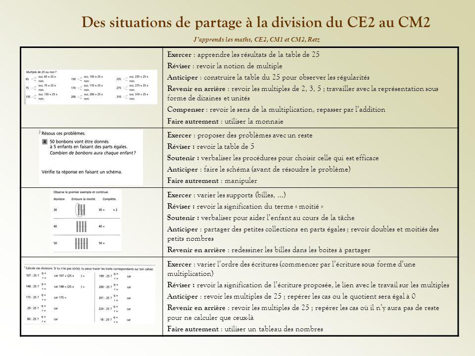 Des situations de partage à la division du CE2 au CM2