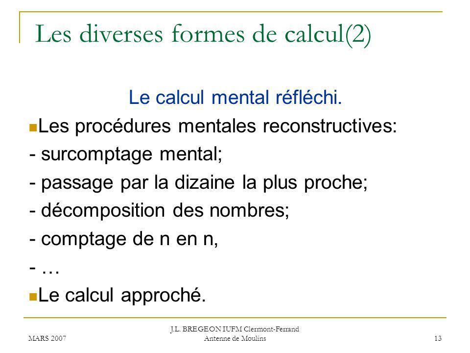 Les diverses formes de calcul(2)