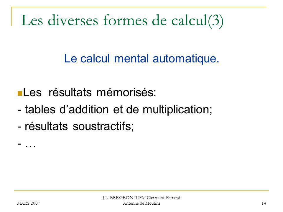 Les diverses formes de calcul(3)