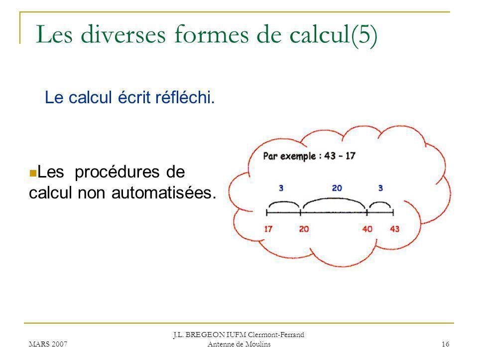 Les diverses formes de calcul(5)