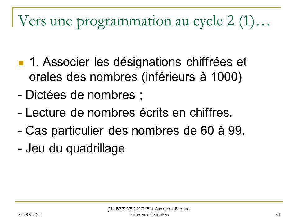 Vers une programmation au cycle 2 (1)…