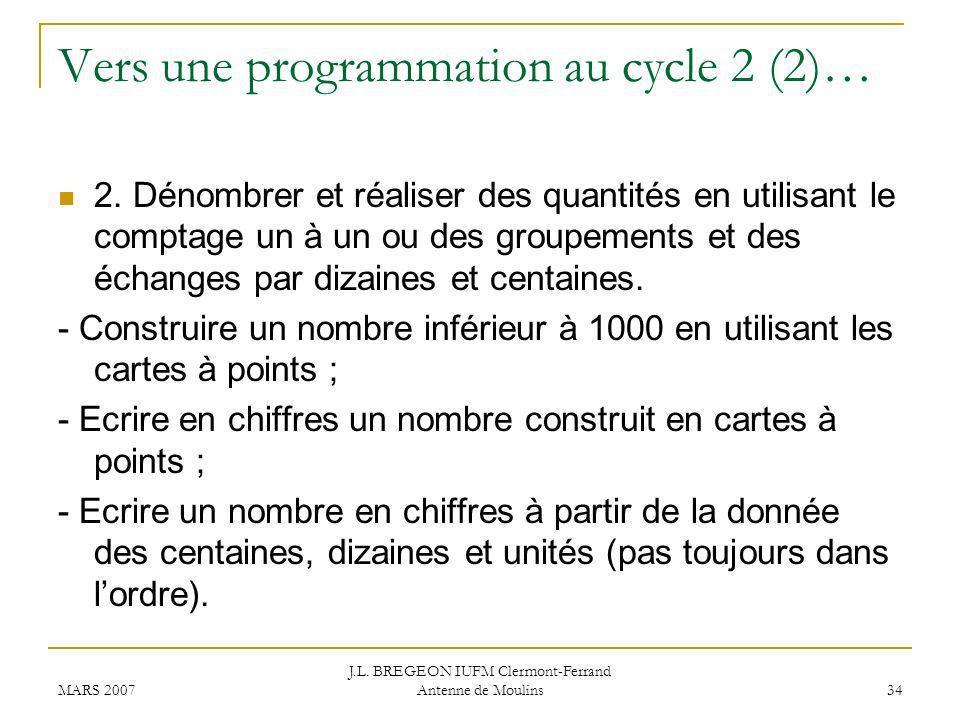 Vers une programmation au cycle 2 (2)…