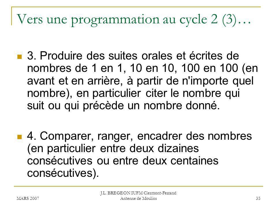 Vers une programmation au cycle 2 (3)…