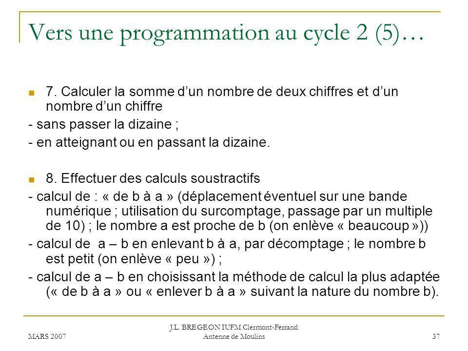 Vers une programmation au cycle 2 (5)…