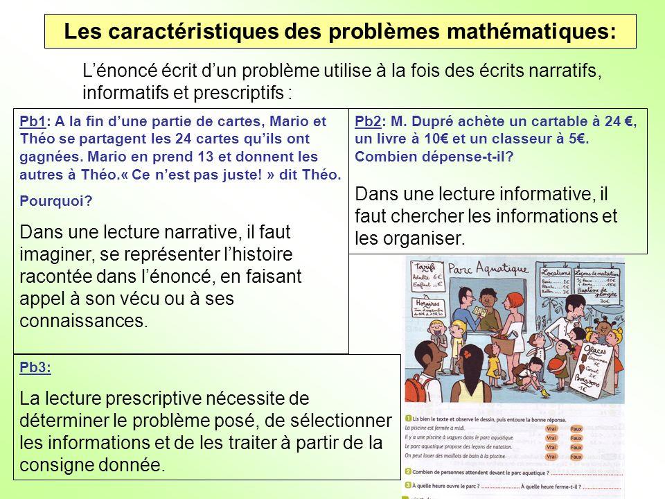 Les caractéristiques des problèmes mathématiques: