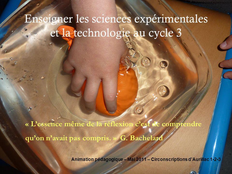 Enseigner les sciences expérimentales et la technologie au cycle 3
