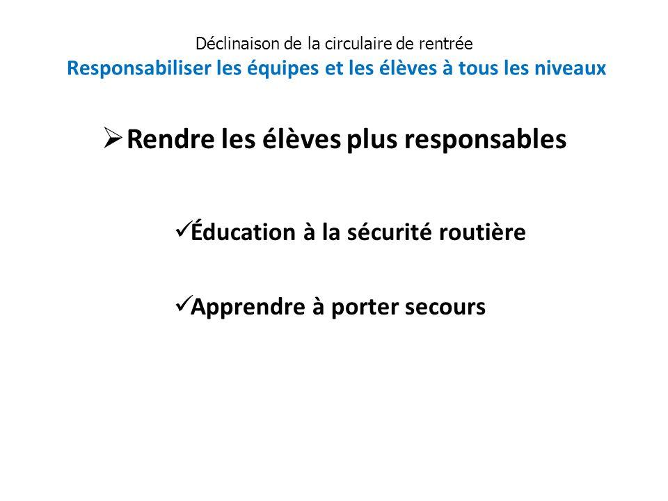 Rendre les élèves plus responsables