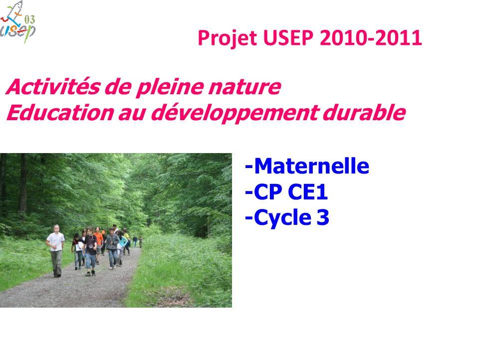 Projet USEP 2010-2011 Activités de pleine nature