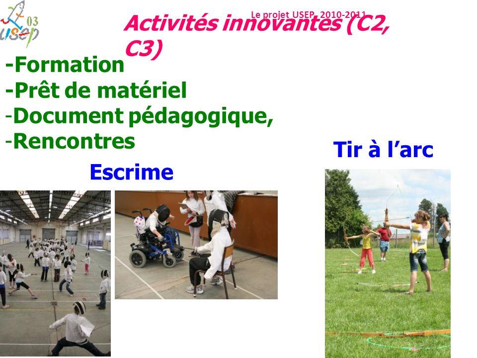 -Formation -Prêt de matériel Document pédagogique, Rencontres